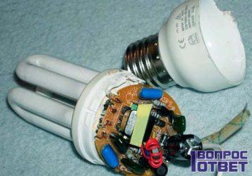 Мигает энергосберегающая лампа во включенном состоянии