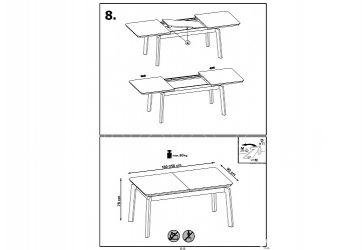 Как собрать раздвижной кухонный стол инструкция?