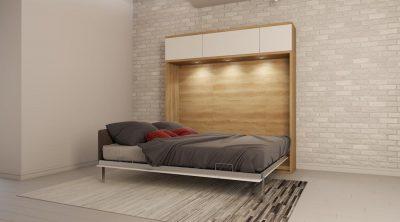 Все виды двуспальных кроватей шкафов трансформеров