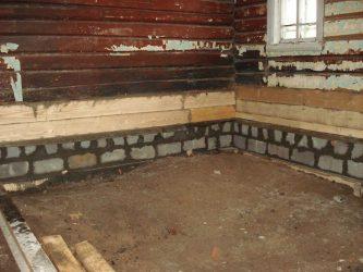 Как опустить полы в старом деревянном доме?