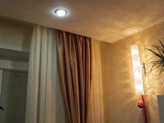 Как спрятать гардину под натяжной потолок?