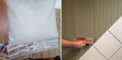 Эластичный плиточный клей для гипсокартона