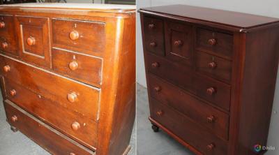 Как реставрировать старую мебель покрытую лаком?