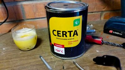 Как изготовить термостойкую краску своими руками?