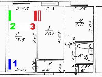 Где лучше установить кондиционер в двухкомнатной квартире?