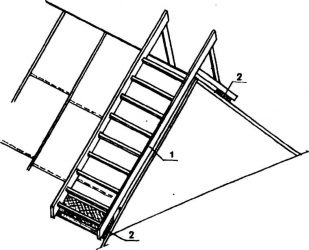 Деревянная лестница трап своими руками