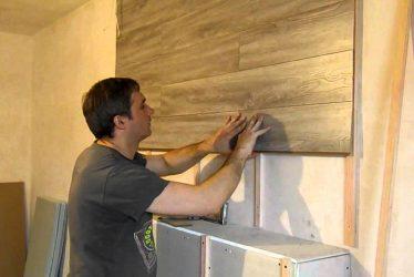 Облицовка стен ламинатом технология монтажа