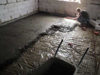 Сколько сохнет бетонная стяжка пола 10 СМ?