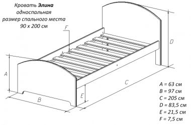 Односпальная кровать сколько СМ?